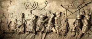 העתק של שער הניצחון של טיטוס (מוצב במוזיאון התפוצות)