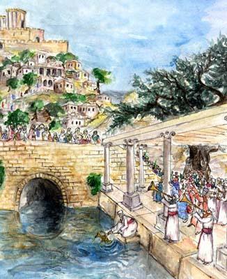 שמחת בית השואבה. ציור של האמנית דפנה לבנון.