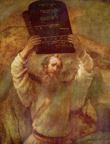 'משה והלוחות', ציור מאת רמברנדט, 1659.