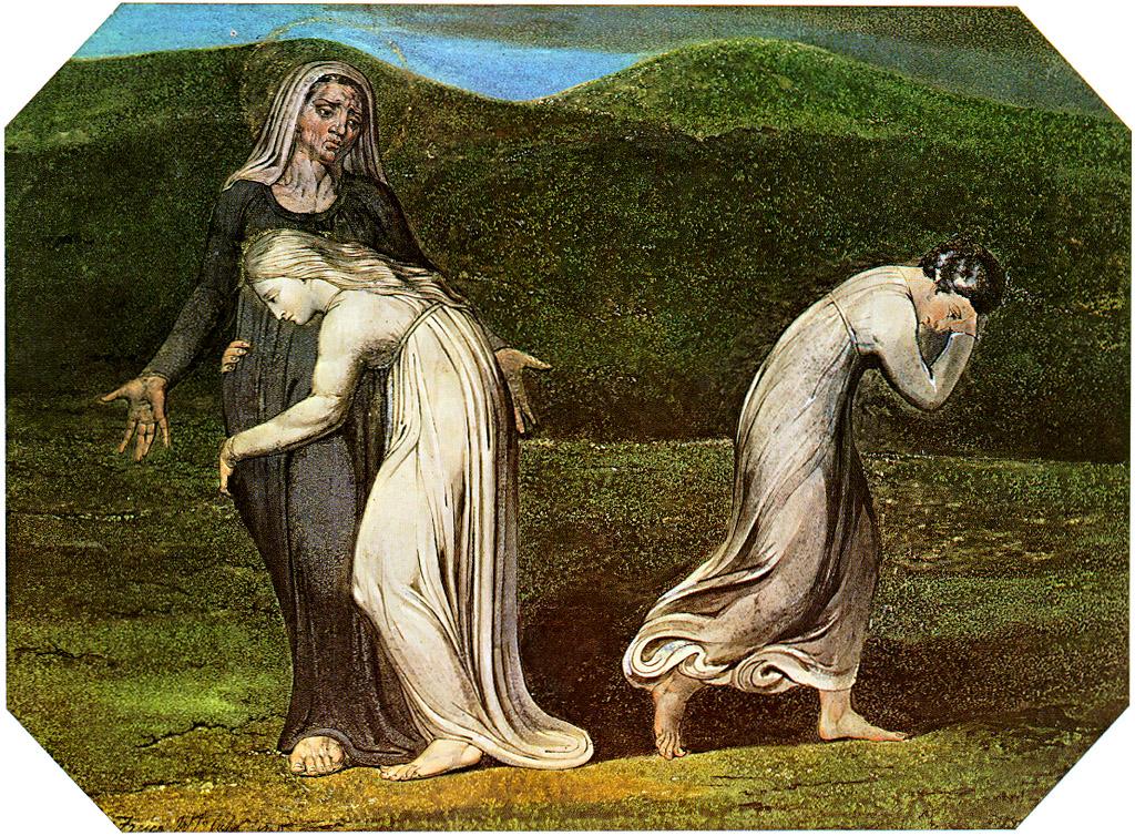 ויליאם בלייק, 'נעמי מתחננת בפני רות וערפה לשוב אל ארץ מואב' (1795)